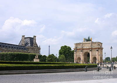 Photograph - View From The Louvre by Angela Rath