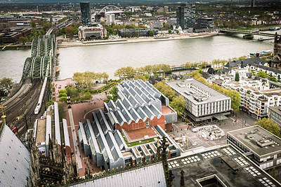 Spiers Photograph - View From The Top - Cologne Cathedral - Germany by Jon Berghoff