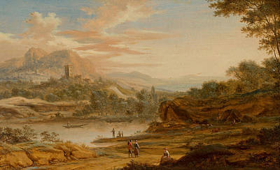 Christian Painting - View In Italy by Johann Christian