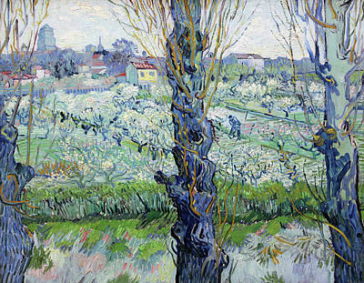 Painting - View Of Arles Flowering Orchards by Vincent van Gogh
