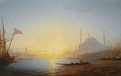 Turkish Painting - View Of Constantinople by Celestial Images
