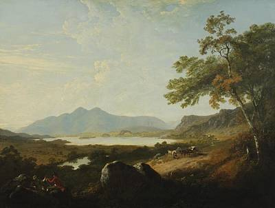 Cumberland River Painting - View Of Derwent Water by Julius Caesar