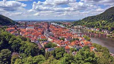 Castles Photograph - View Of Heidelberg by Marcia Colelli