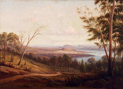 Knut Painting - View Of Hobart Town by Knut Bull