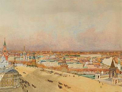 Moscow Painting - View Of Moscow by Franz Kopallik