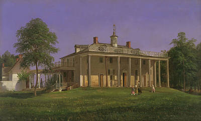 Famous Figures Painting - View Of Mount Vernon by Ferdinand Richardt