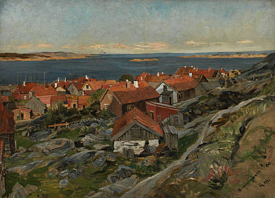 Painting - View Of Nevlunghavn by Gerhard Munthe