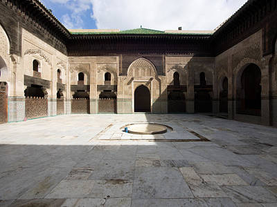 Moroccan Photograph - View Of Part Of Cloister And Courtyard by Panoramic Images