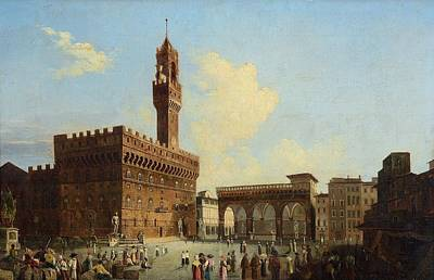 Italian School Painting - View  Of Piazza Della Signoria, by MotionAge Designs