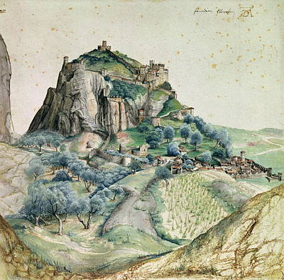 Hill Top Village Painting - View Of The Arco Valley In The Tyrol by Albrecht Durer