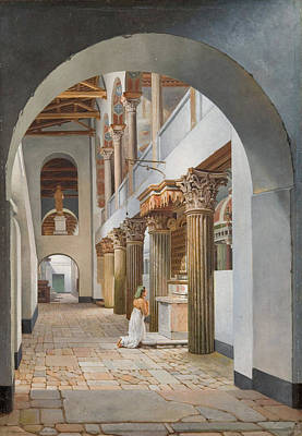 Painting - View Of The Church Of San Lorenzo Fuori Le Mura by Christoffer Wilhelm Eckersberg