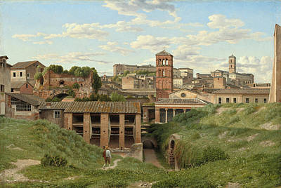 Painting - View Of The Cloaca Maxima, Rome by Christoffer Wilhelm Eckersberg