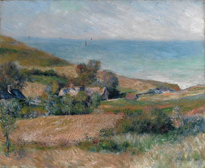 Seacoast Painting - View Of The Seacoast Near Wargemont In Normandy by Auguste Renoir