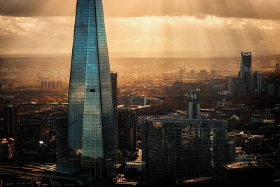 London Skyline Photograph - View Of The Shard by Ian Hufton