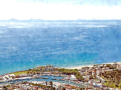 Digital Art - View Of The Village's Cityscape With Port by Giuseppe Cocco
