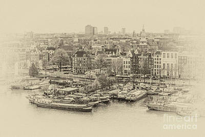 Photograph - view on Amsterdam by Patricia Hofmeester