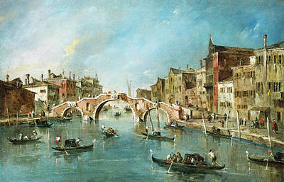 Painting - View On The Cannaregio Canal, Venice by Francesco Guardi