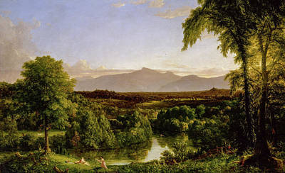 Hudson River School Painting - View On The Catskill - Early Autumn by Thomas Cole
