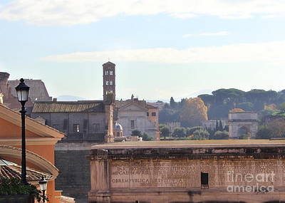 Photograph - View Over The Forum by Angela Rath