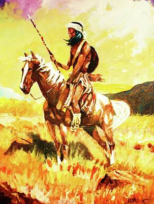 Painting - Vigilante Apache by Al Brown