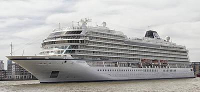 Barbarian Photograph - Viking Sea Cruise Ship by Martin Newman