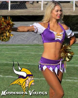 Photograph - Vikings Cheerleader by Kyle West