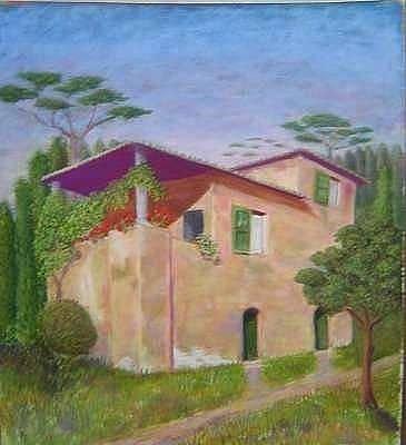 Pastel - Villa Borghese by Mary Erbert