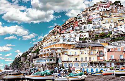 Photograph - Village Of Positano by Anthony Dezenzio