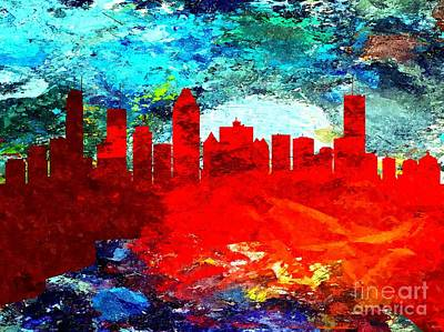 Montreal Cityscapes Mixed Media - Ville De Montreal Grunge by Daniel Janda
