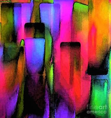 Arc-en-ciel Digital Art - Ville De Reve Magical City by Carole Thivierge