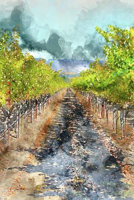 California Photograph - Vineyard In Autumn by Brandon Bourdages