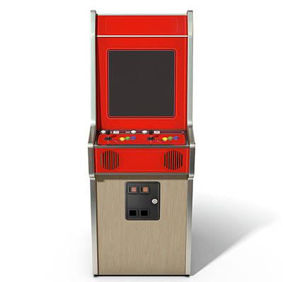 Vintage Arcade Machine Art Print by Allan Swart