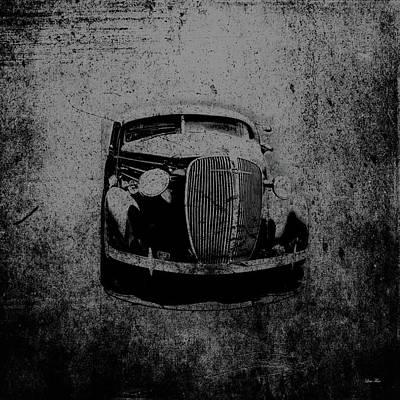 Alabama Photograph - Vintage Car Art 0443 Bw by Lesa Fine