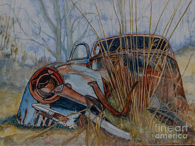Photograph - Vintage Car Left Behind by DJ Laughlin
