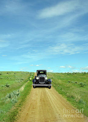 Photograph - Vintage Car On Dirt Road by Jill Battaglia