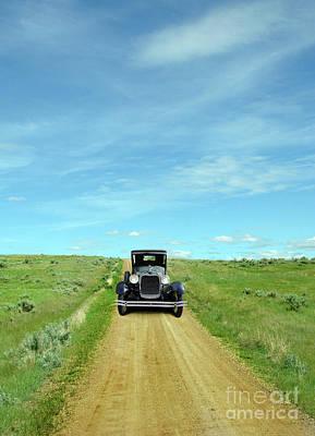 Photograph - Vintage Car On Dirt Road by Jill Battaglia