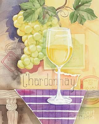 Vintage Chardonnay Art Print