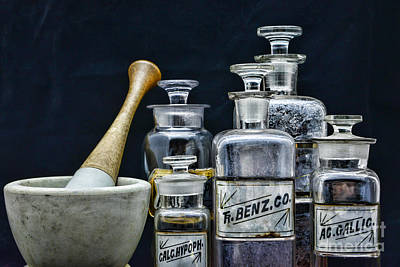 Mortar Photograph - Vintage Chemistry by Paul Ward