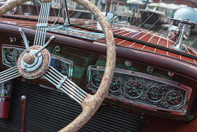 Photograph - Vintage Chris Craft by Steven Lapkin