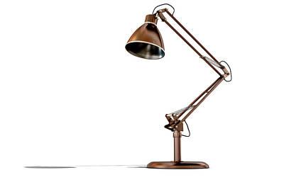 Vintage Copper Desk Lamp Art Print