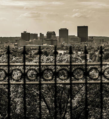 Photograph - Vintage Dayton Ohio Skyline by Dan Sproul