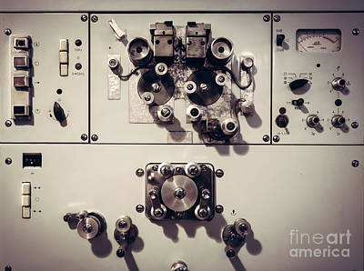 Desk Photograph - Vintage Electrical Machine From A Movie Industry by Michal Bednarek