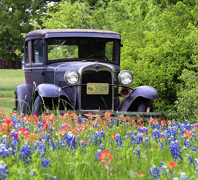 Art Print featuring the photograph Vintage Model T Ford Automobile by Robert Bellomy