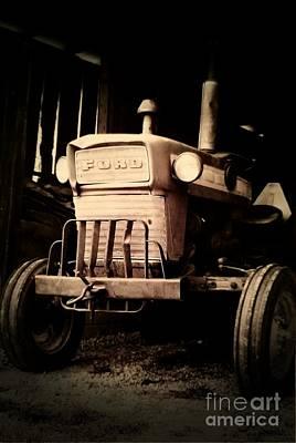Photograph - Vintage Ford Farm Tractor by Scott D Van Osdol