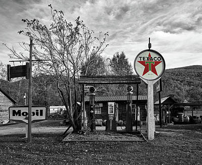 Texaco Wall Art - Photograph - Vintage Gas Station by Mountain Dreams