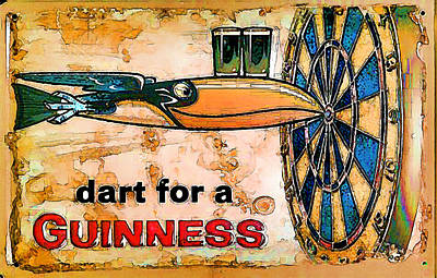 Digital Art - Vintage Guinness Beer Advert - Circa 1920's by Marlene Watson