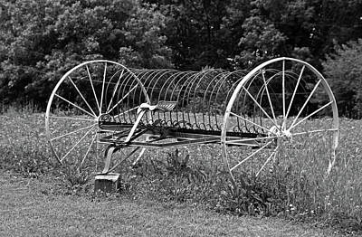 Photograph - Vintage Hay Rake by Michiale Schneider