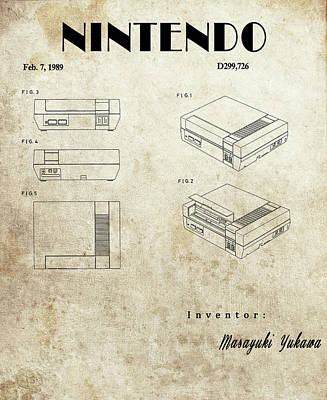 Drawing - Vintage Nintendo Patent by Dan Sproul