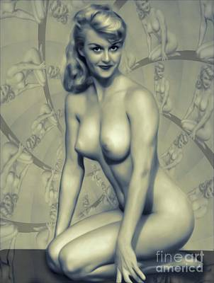 Surrealism Digital Art Rights Managed Images - Vintage Pinup by MB Royalty-Free Image by Esoterica Art Agency