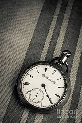 Photograph - Vintage Pocket Watch by Edward Fielding